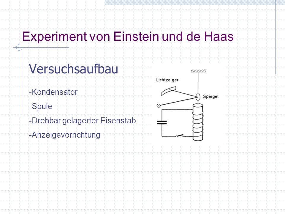 Experiment von Einstein und de Haas