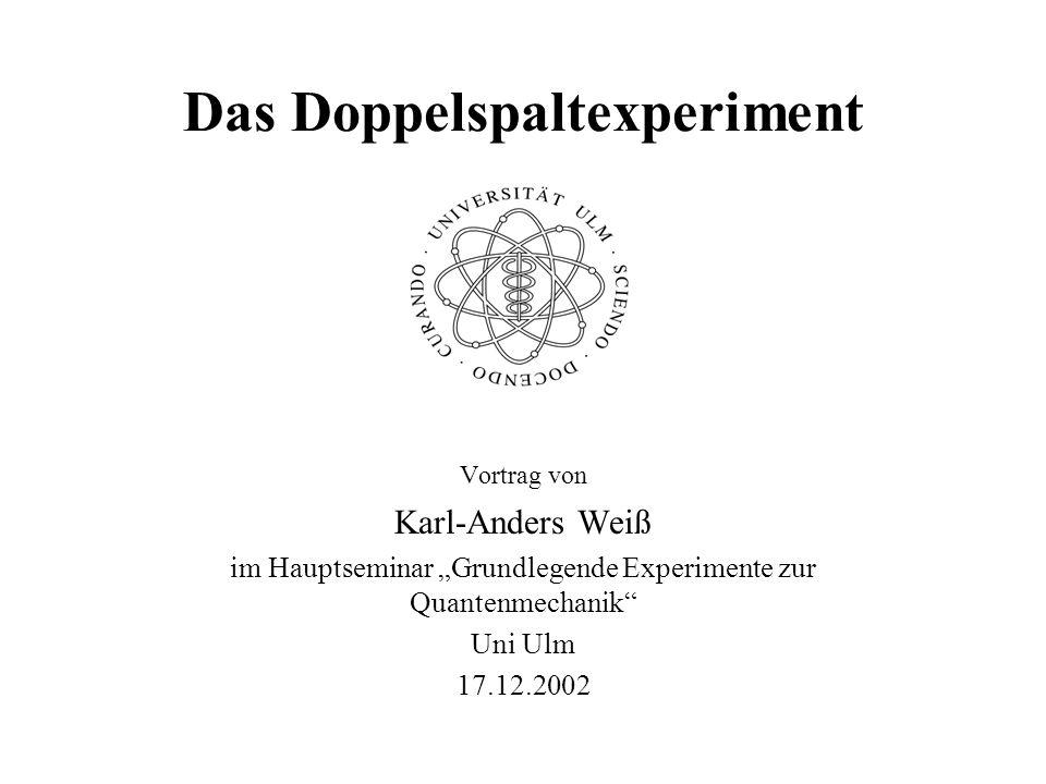Das Doppelspaltexperiment