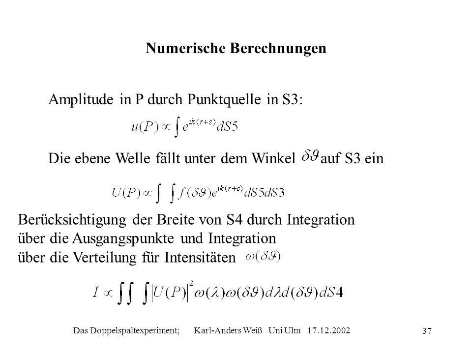 Numerische Berechnungen
