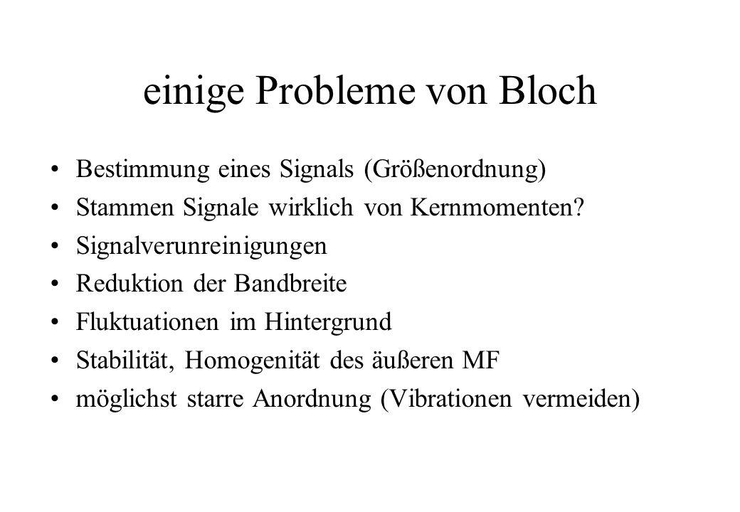 einige Probleme von Bloch