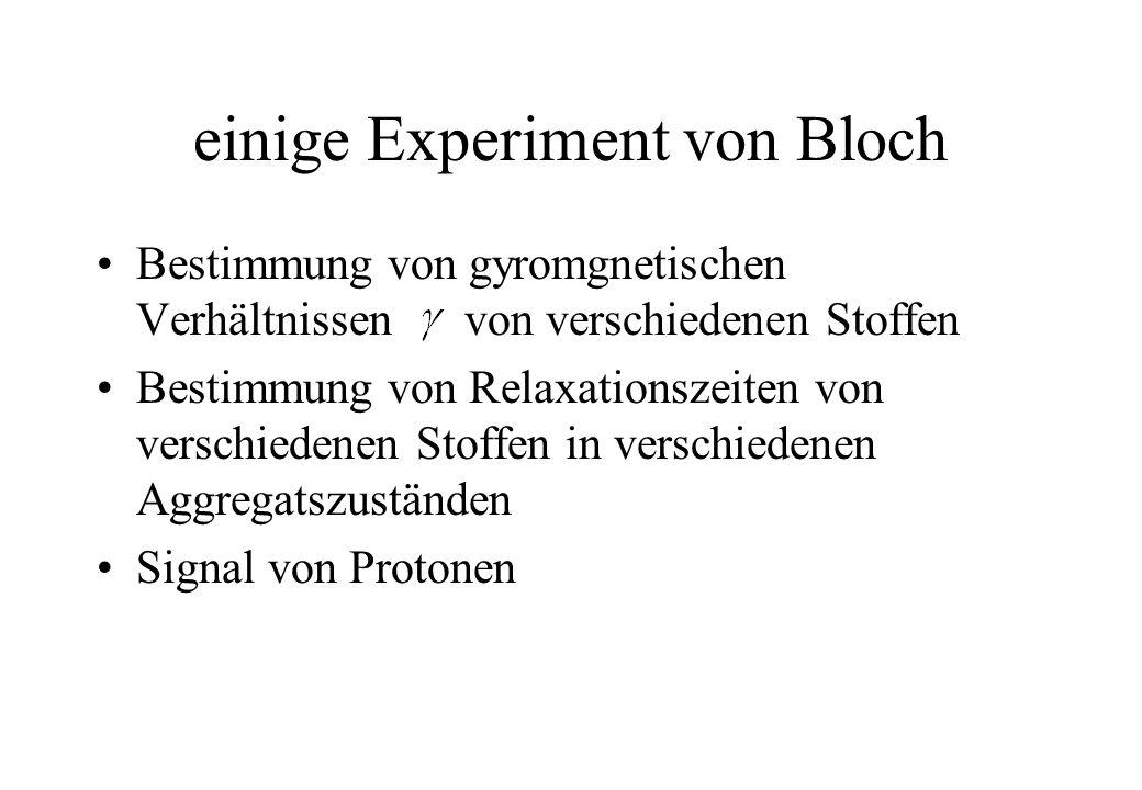 einige Experiment von Bloch