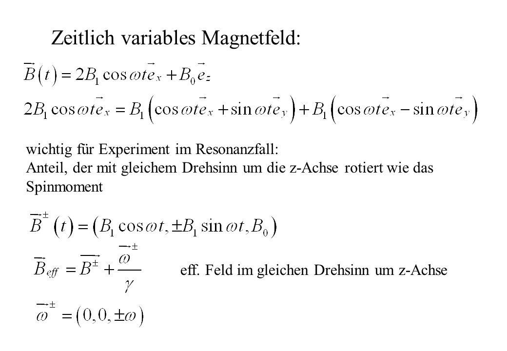 Zeitlich variables Magnetfeld: