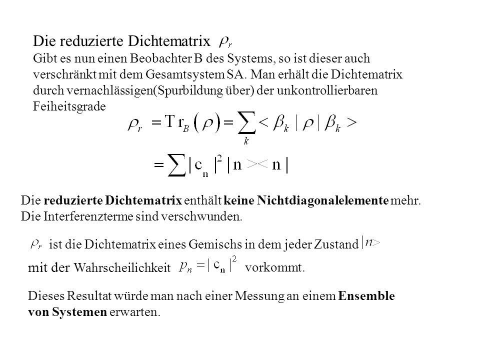 Die reduzierte Dichtematrix