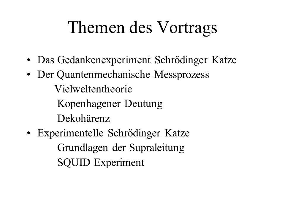 Themen des Vortrags Das Gedankenexperiment Schrödinger Katze