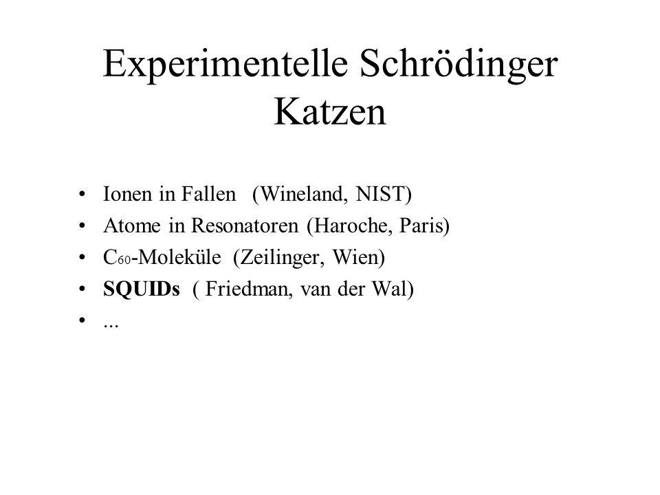 Experimentelle Schrödinger Katzen