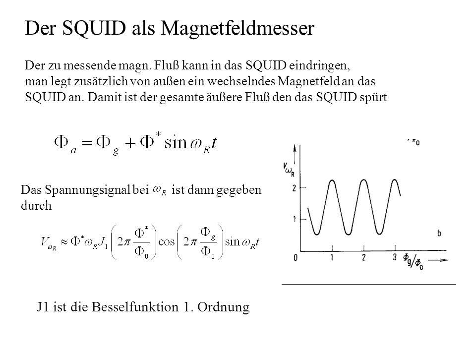Der SQUID als Magnetfeldmesser