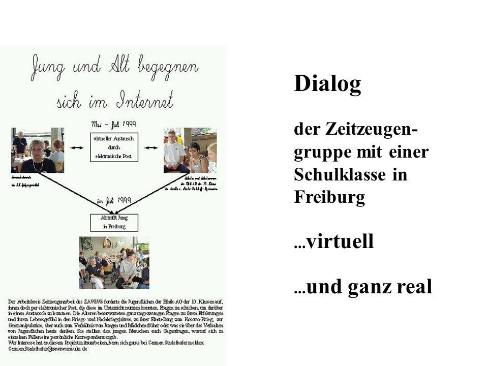 Dialog der Zeitzeugen-gruppe mit einer Schulklasse in Freiburg