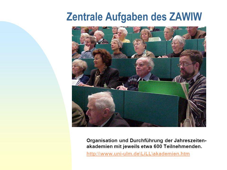 Zentrale Aufgaben des ZAWIW