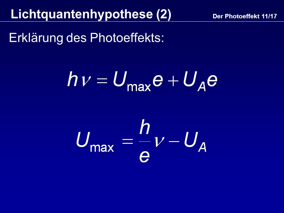 Lichtquantenhypothese (2)