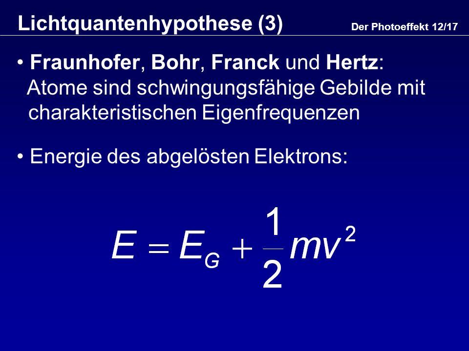 Lichtquantenhypothese (3)