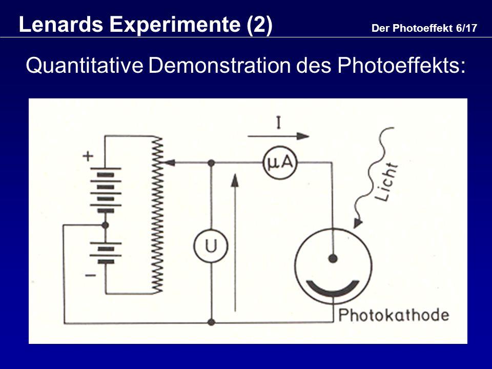 Lenards Experimente (2)