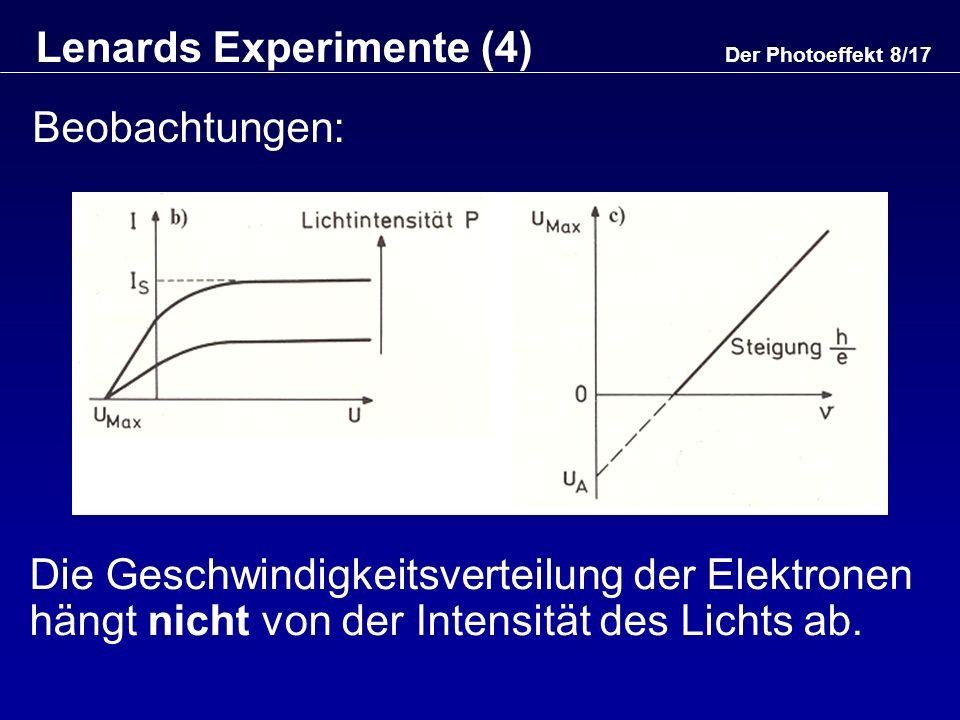 Lenards Experimente (4)