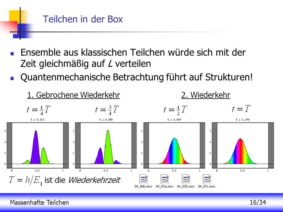Quantenmechanische Betrachtung führt auf Strukturen!