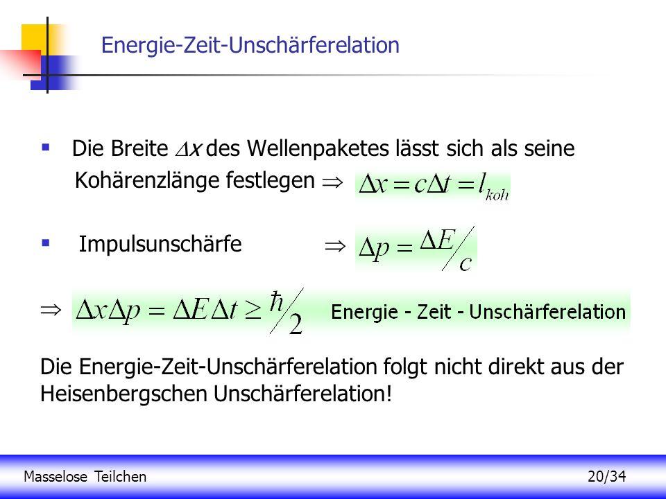 Energie-Zeit-Unschärferelation