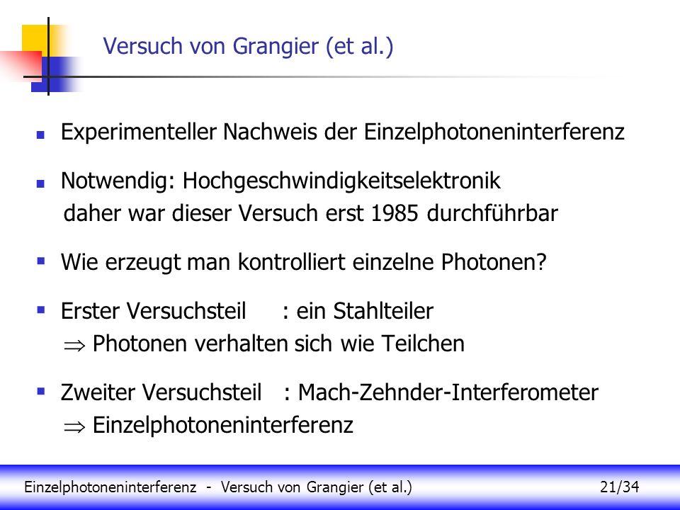 Versuch von Grangier (et al.)
