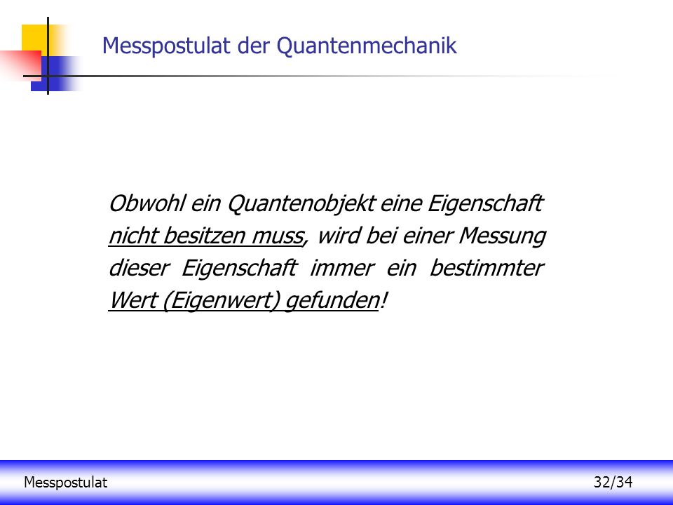 Messpostulat der Quantenmechanik