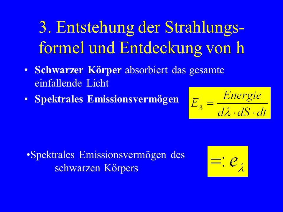 3. Entstehung der Strahlungs-formel und Entdeckung von h