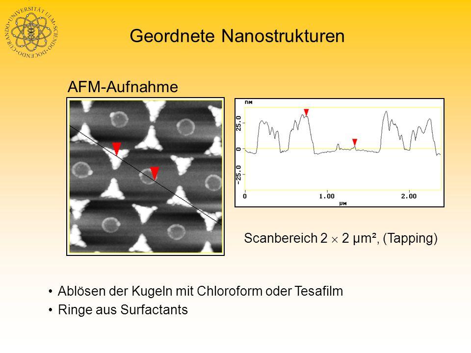 Geordnete Nanostrukturen