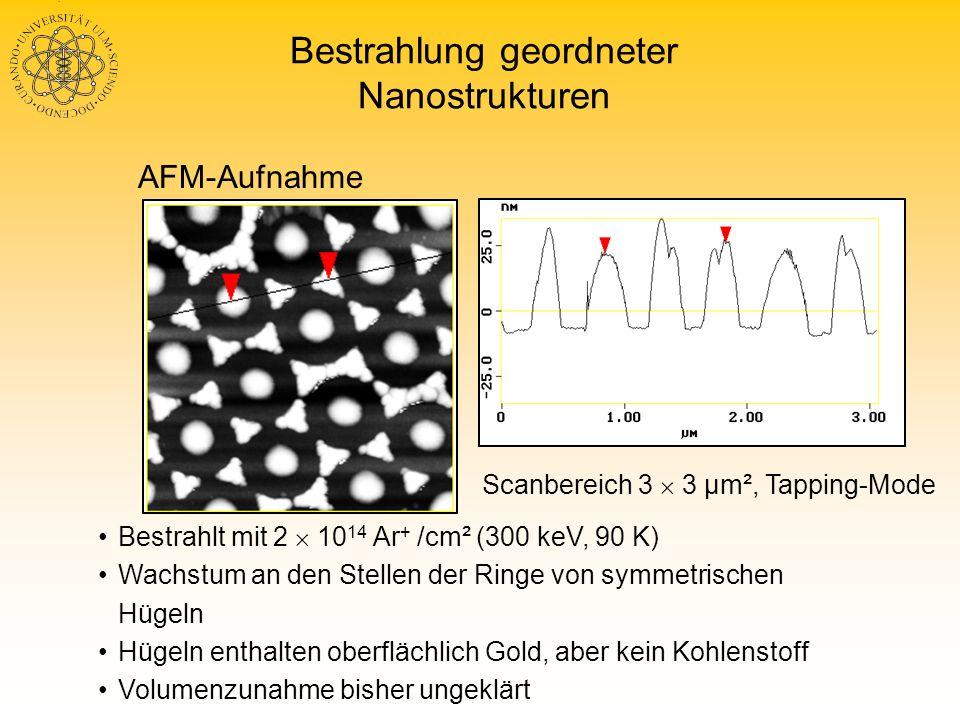 Bestrahlung geordneter Nanostrukturen