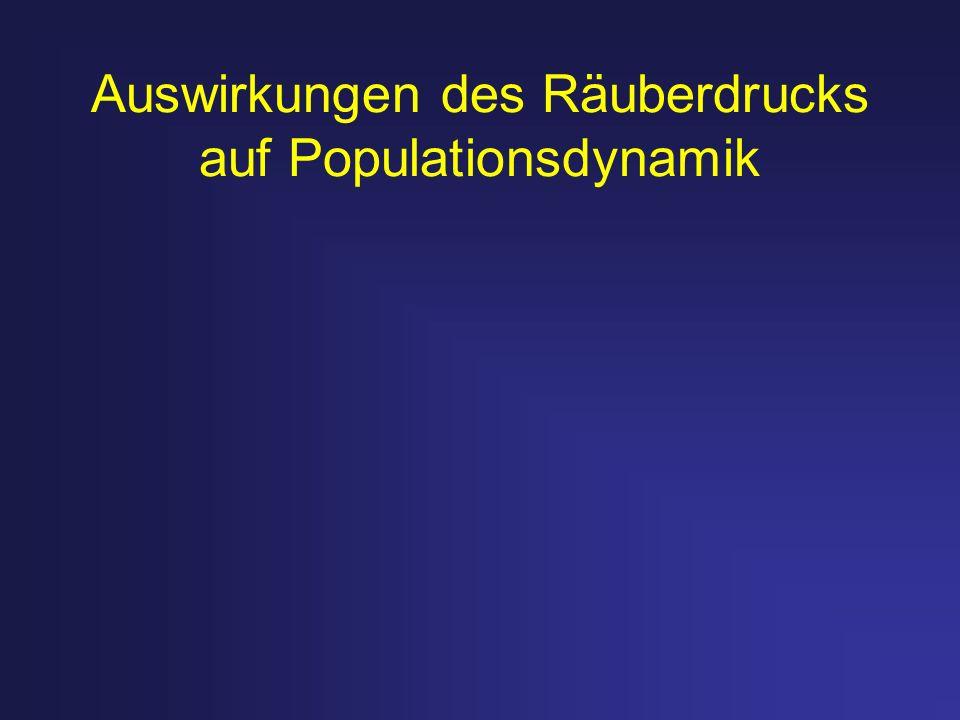 Auswirkungen des Räuberdrucks auf Populationsdynamik
