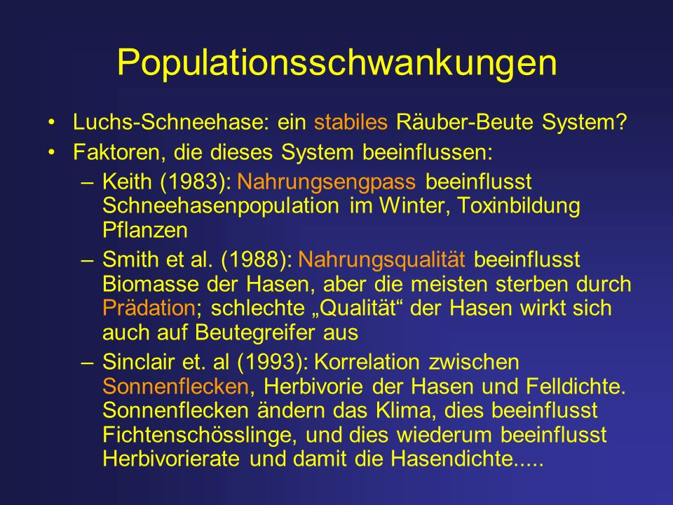 Populationsschwankungen