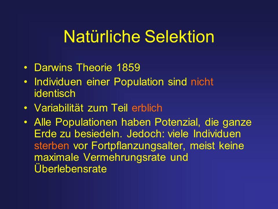 Natürliche Selektion Darwins Theorie 1859