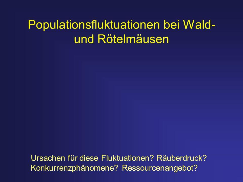Populationsfluktuationen bei Wald- und Rötelmäusen