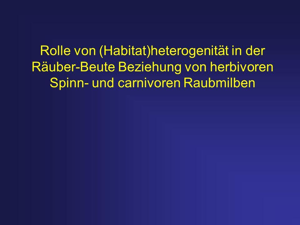 Rolle von (Habitat)heterogenität in der Räuber-Beute Beziehung von herbivoren Spinn- und carnivoren Raubmilben