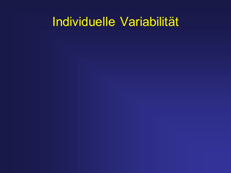 Individuelle Variabilität