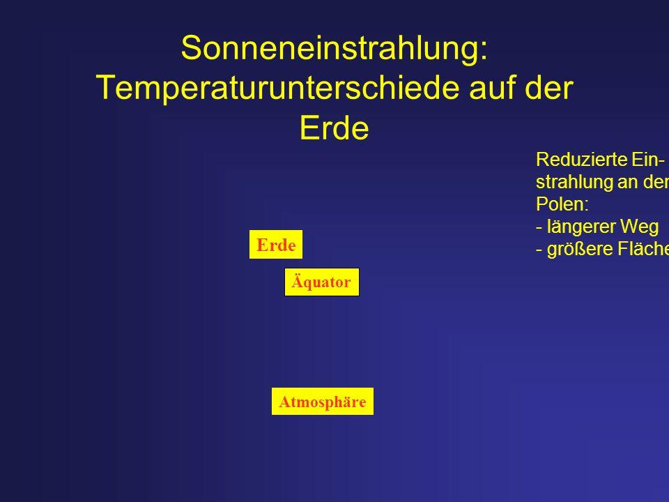 Sonneneinstrahlung: Temperaturunterschiede auf der Erde