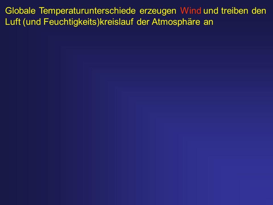 Globale Temperaturunterschiede erzeugen Wind und treiben den