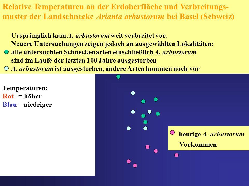 Relative Temperaturen an der Erdoberfläche und Verbreitungs-muster der Landschnecke Arianta arbustorum bei Basel (Schweiz)