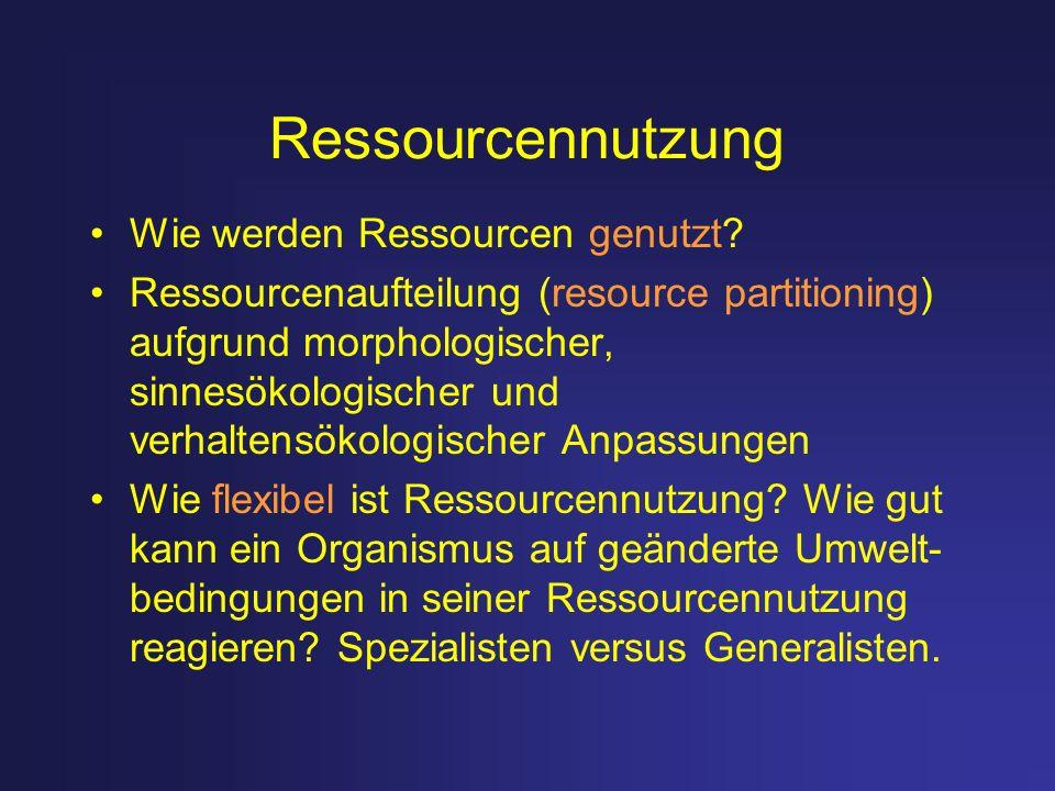 Ressourcennutzung Wie werden Ressourcen genutzt