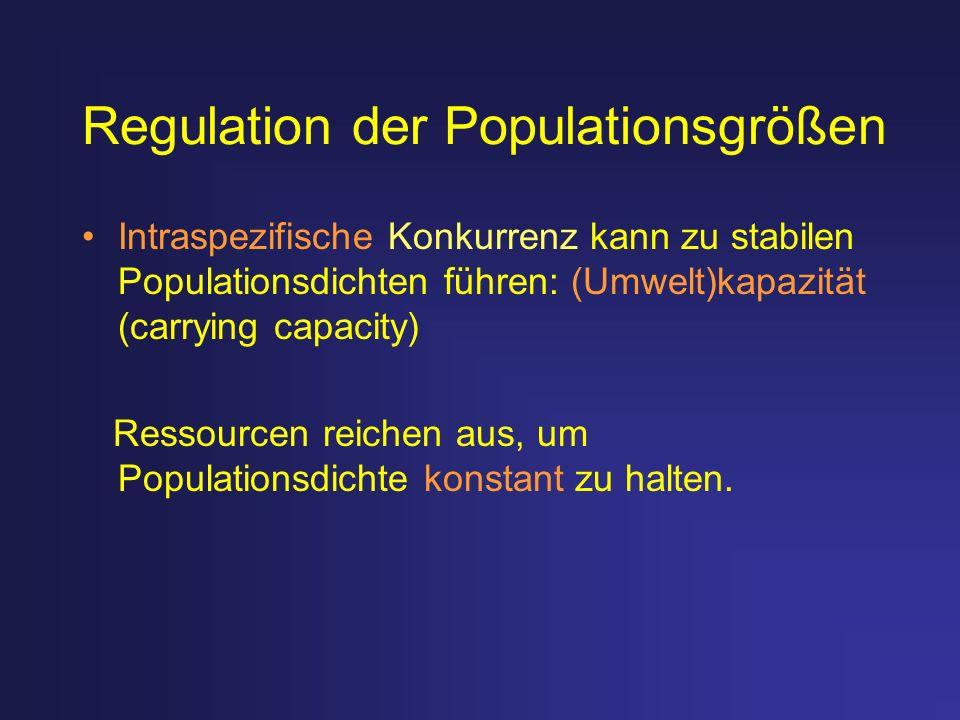 Regulation der Populationsgrößen