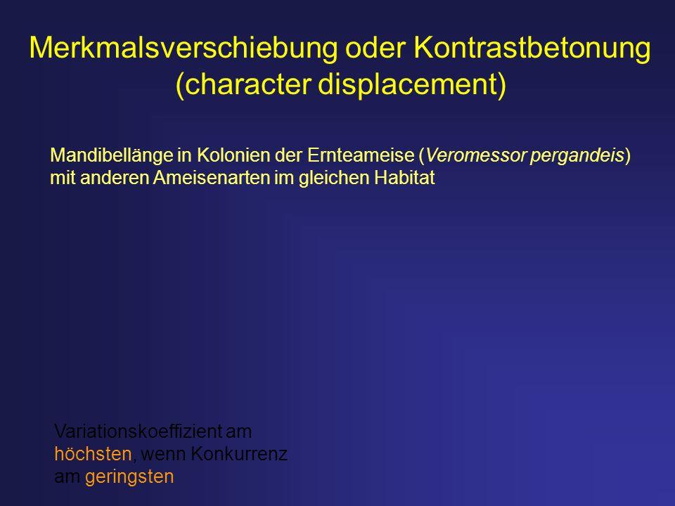 Merkmalsverschiebung oder Kontrastbetonung (character displacement)