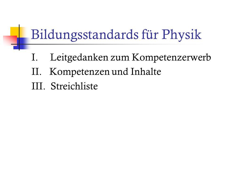 Bildungsstandards für Physik
