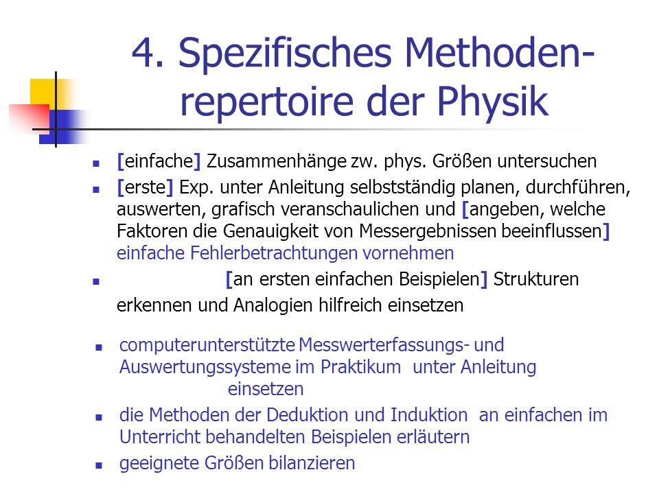 4. Spezifisches Methoden-repertoire der Physik