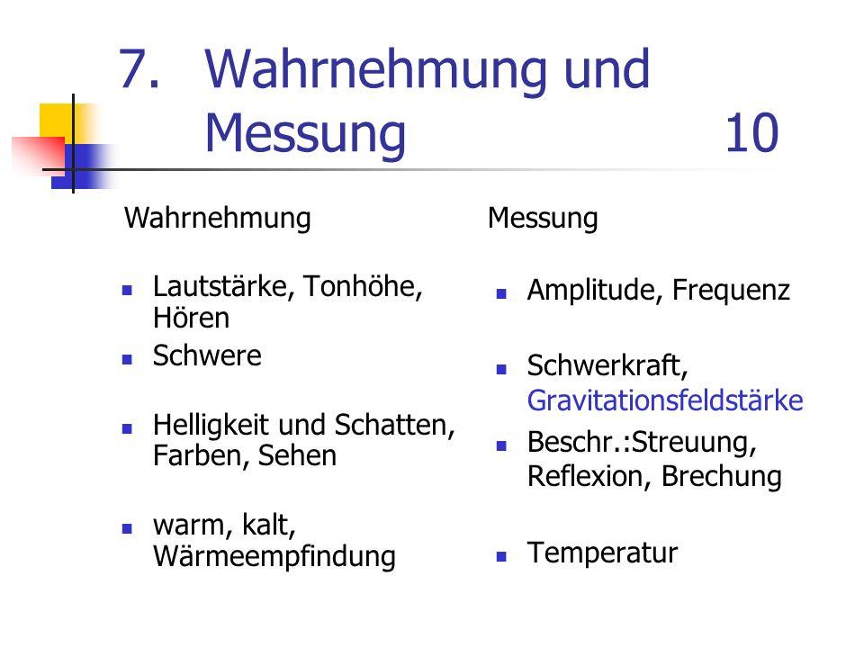 7. Wahrnehmung und Messung 10