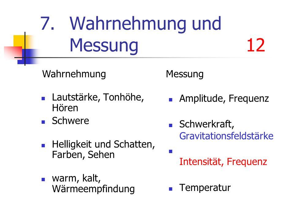 7. Wahrnehmung und Messung 12