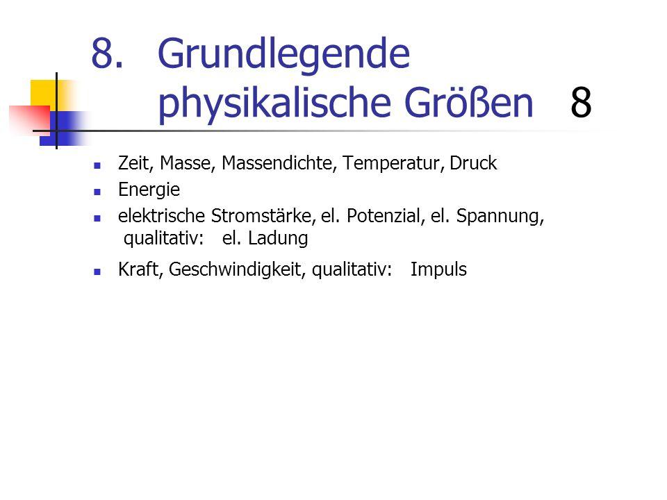8. Grundlegende physikalische Größen 8
