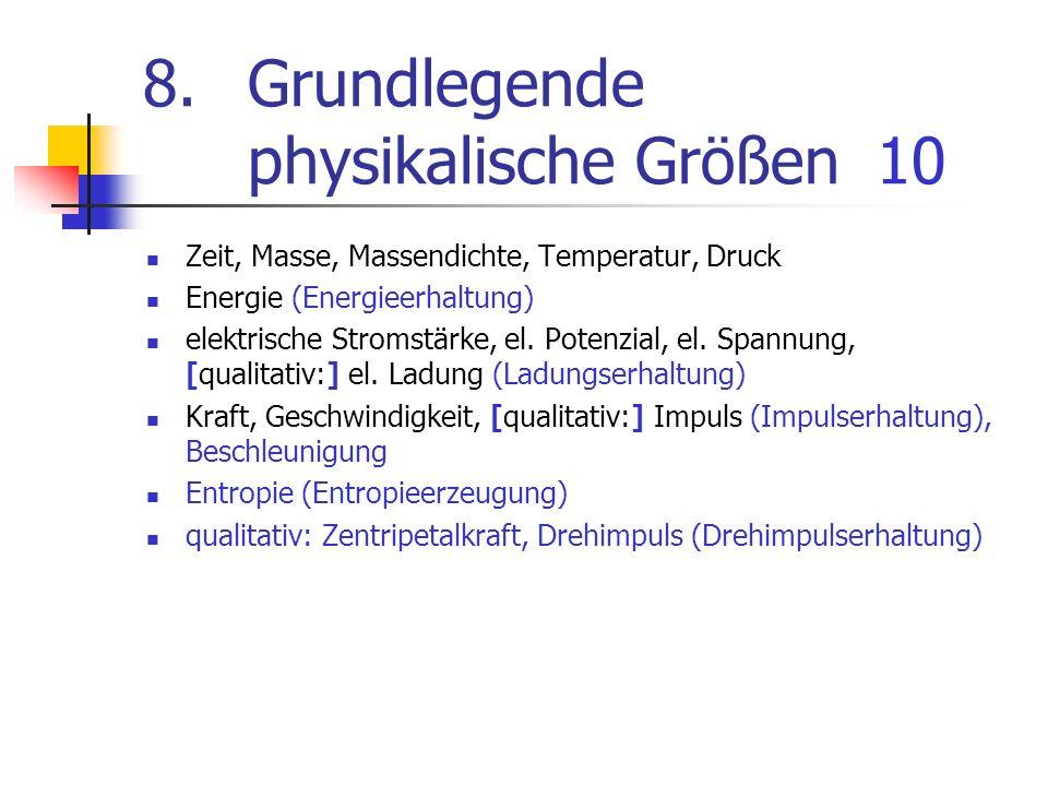 8. Grundlegende physikalische Größen 10