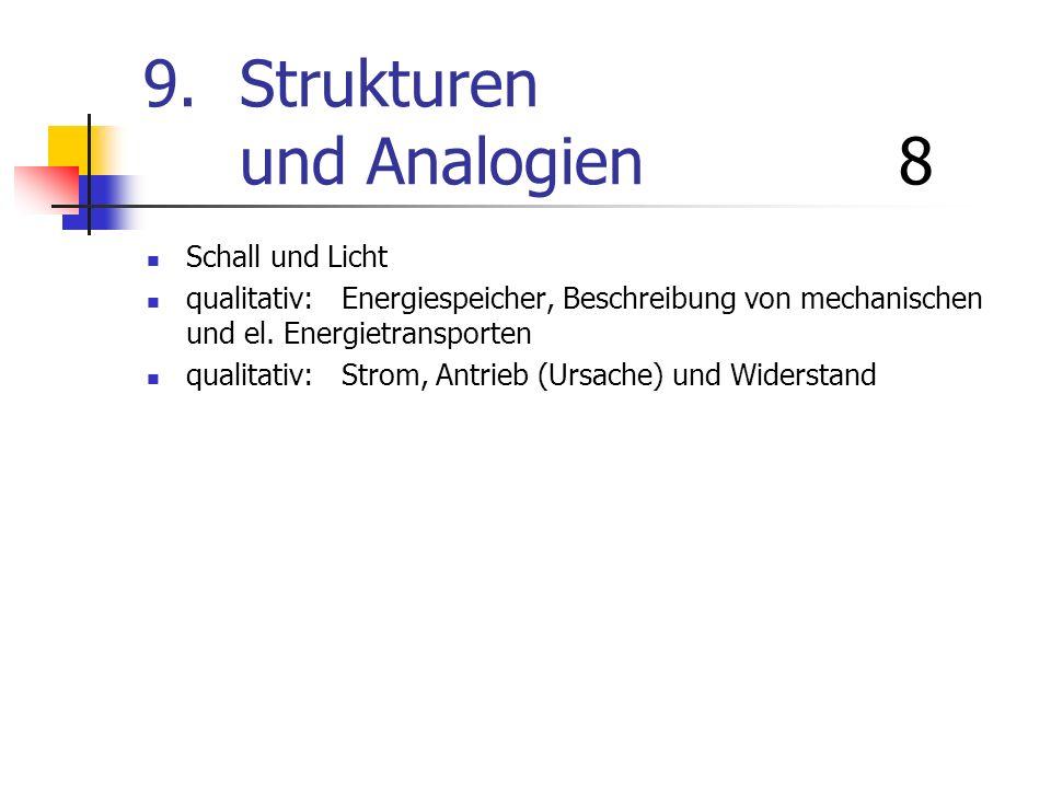 9. Strukturen und Analogien 8