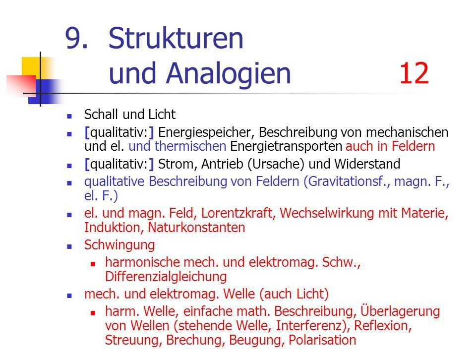 9. Strukturen und Analogien 12