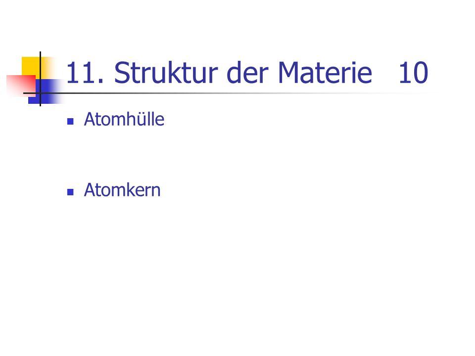 11. Struktur der Materie 10 Atomhülle Atomkern