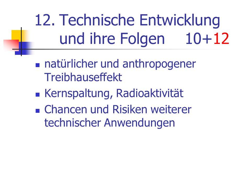 12. Technische Entwicklung und ihre Folgen 10+12