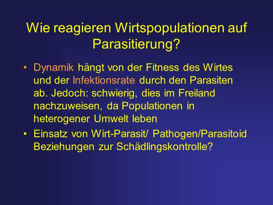 Wie reagieren Wirtspopulationen auf Parasitierung