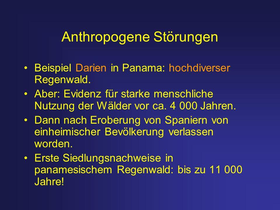 Anthropogene Störungen