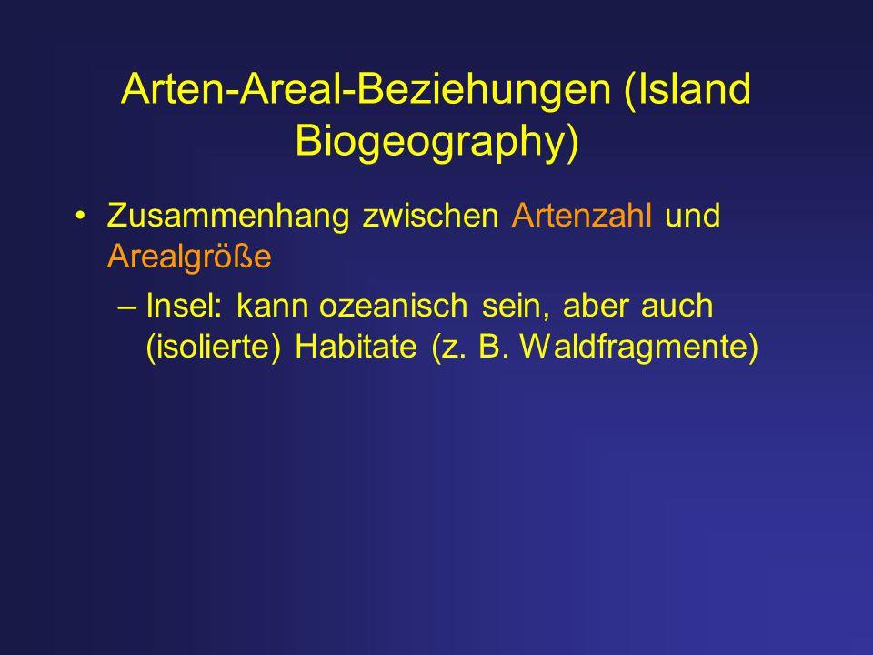 Arten-Areal-Beziehungen (Island Biogeography)