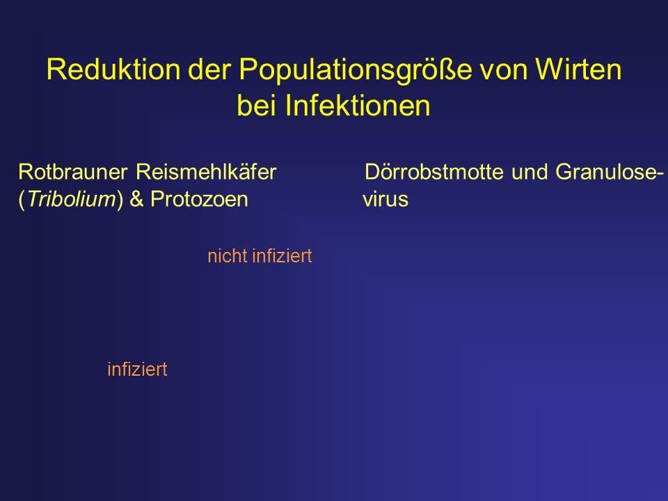 Reduktion der Populationsgröße von Wirten bei Infektionen