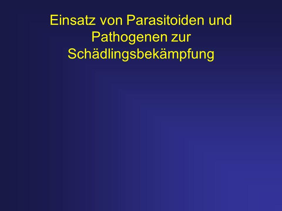 Einsatz von Parasitoiden und Pathogenen zur Schädlingsbekämpfung